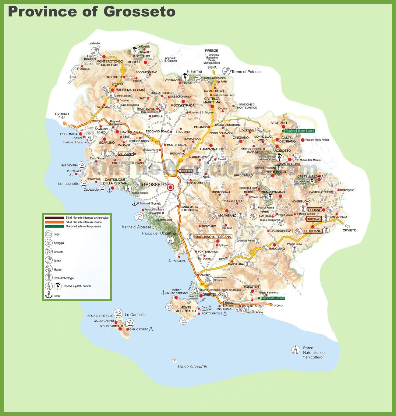 Grosseto Maps Italy Maps of Grosseto