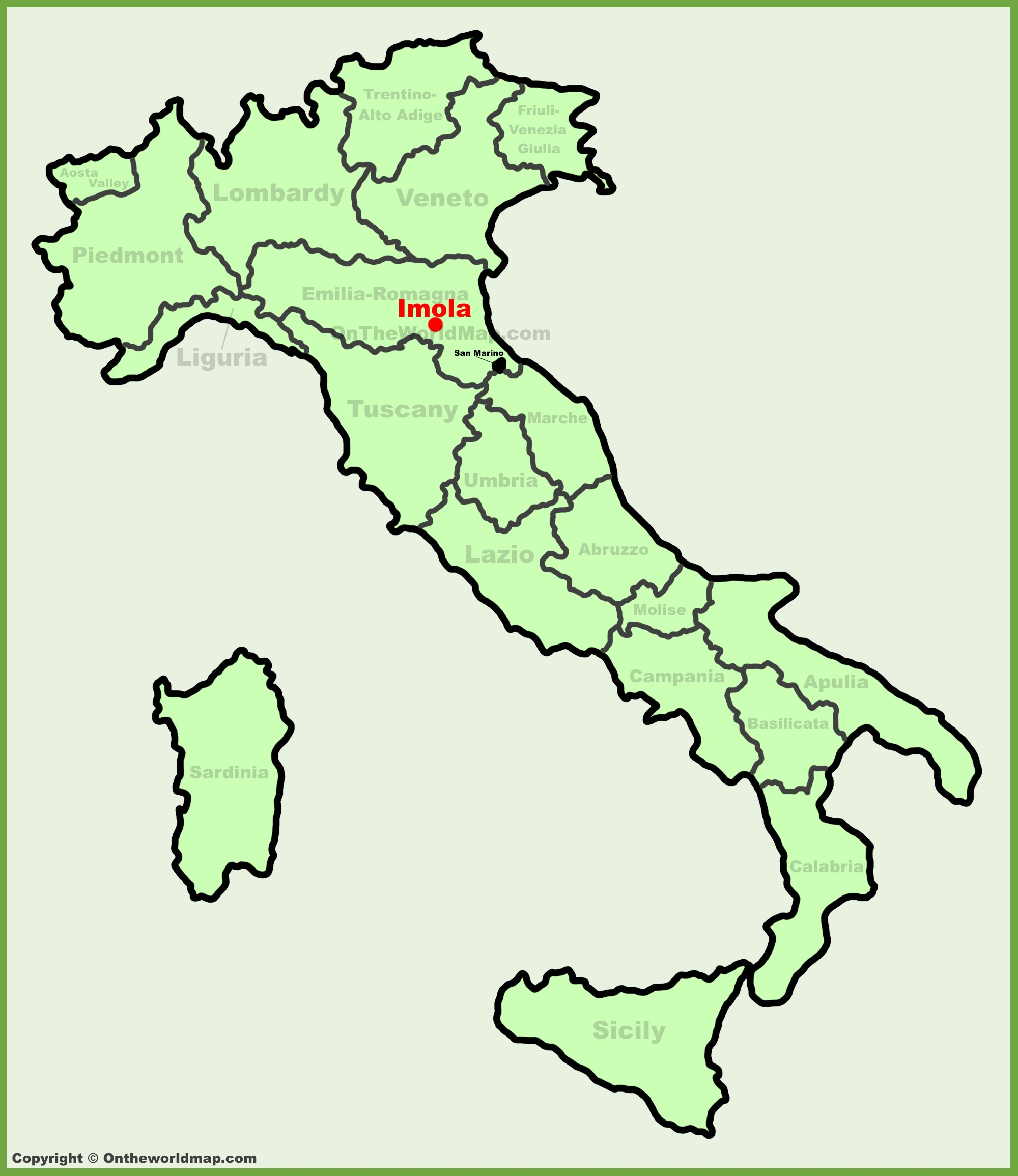 Imola location on the Italy map