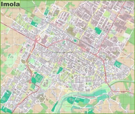 Large detailed map of Imola