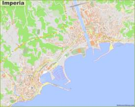 Detailed Map of Imperia