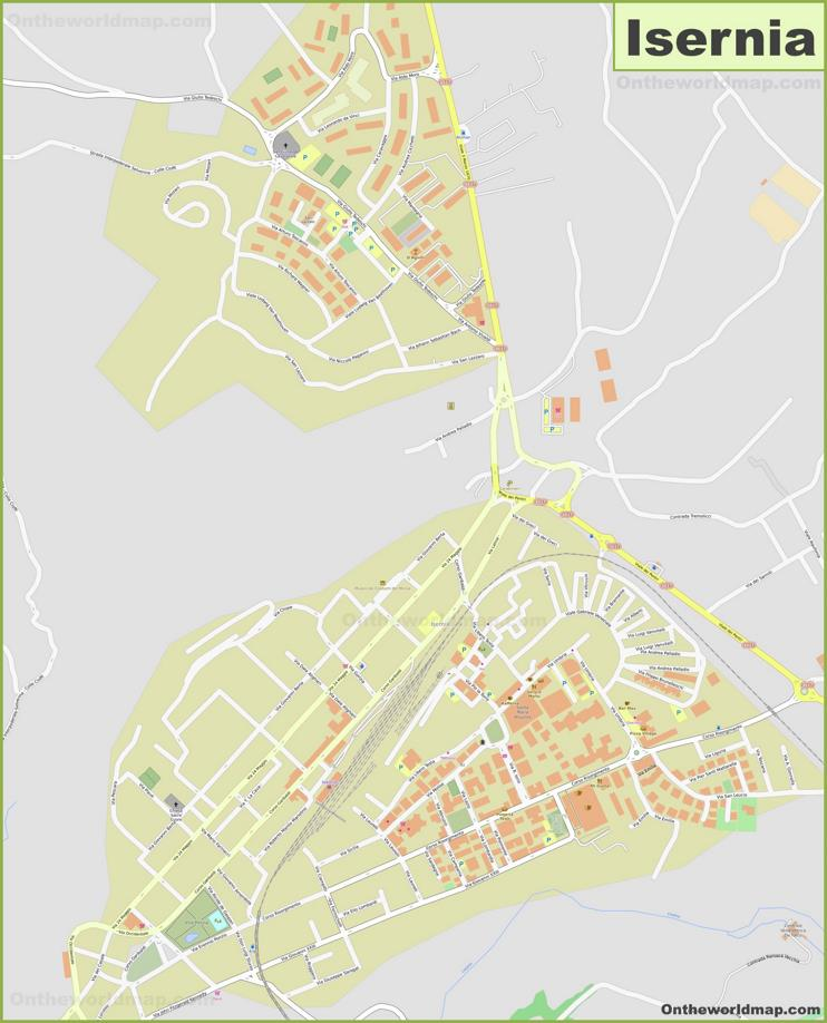 Detailed Map of Isernia
