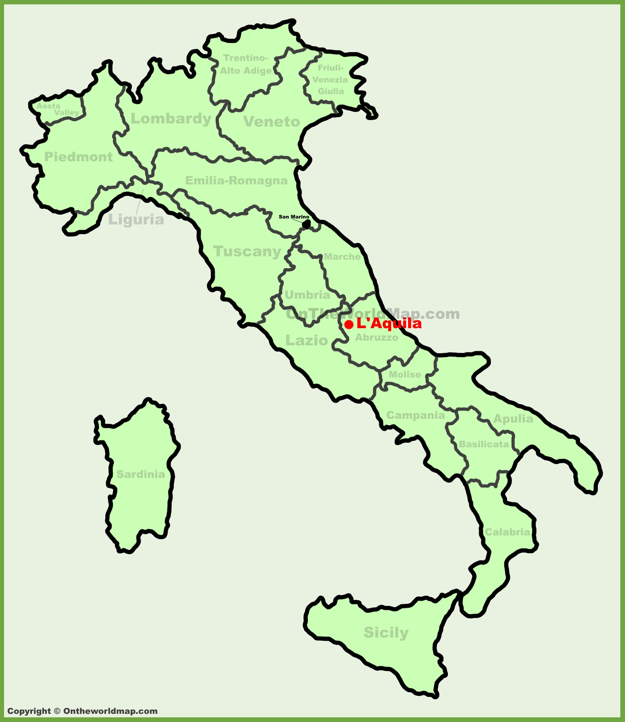 LAquila location on the Italy map
