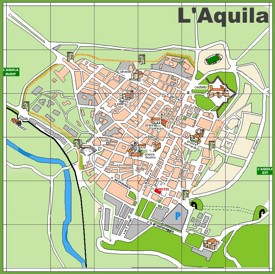 L'Aquila tourist map