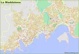 Detailed Map of La Maddalena