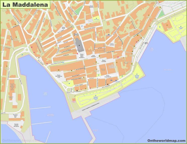La Maddalena Old Town Map