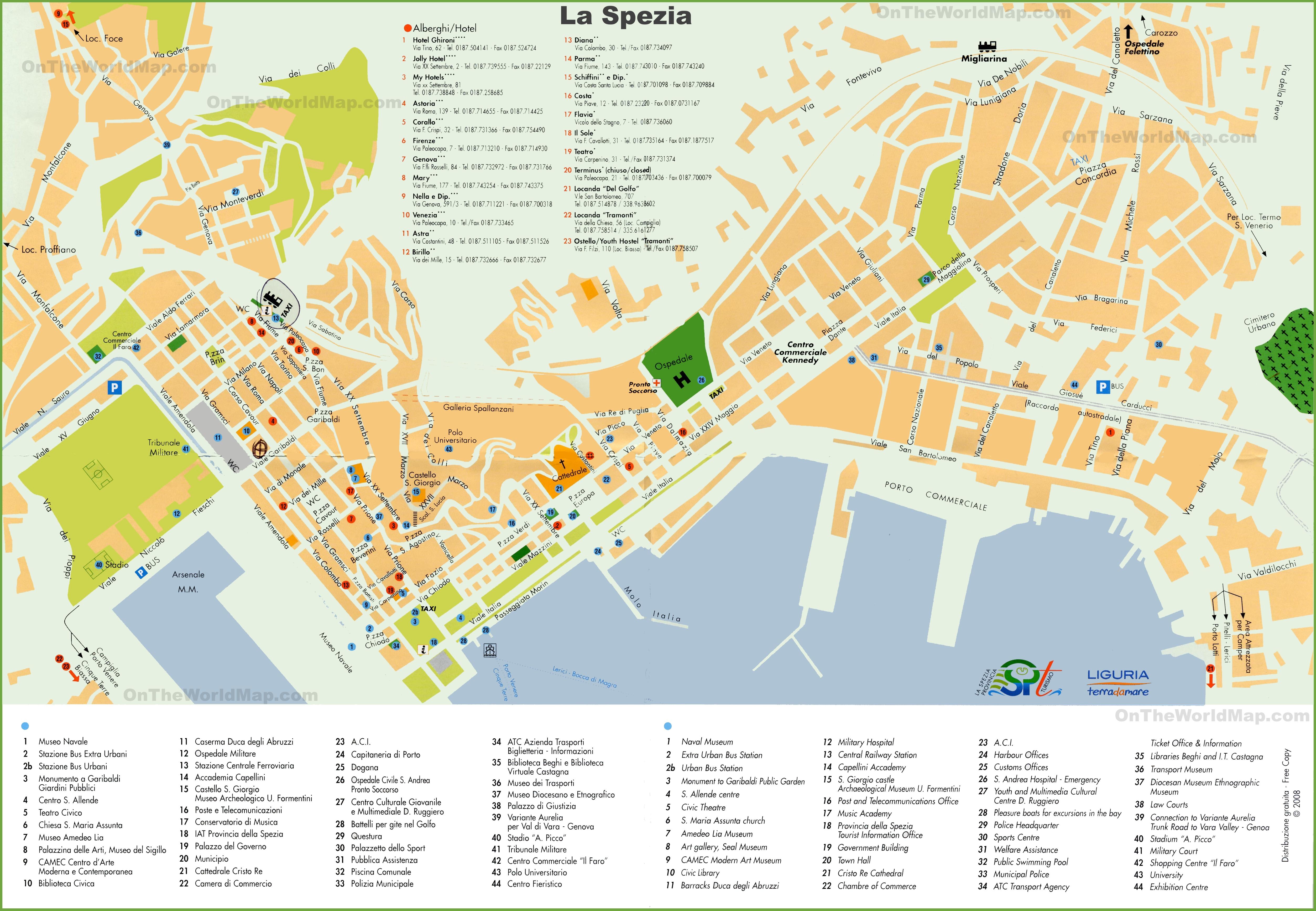 La Spezia Maps Italy Maps of La Spezia