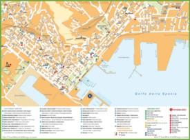 La Spezia tourist map