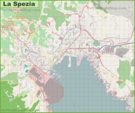 Large detailed map of La Spezia