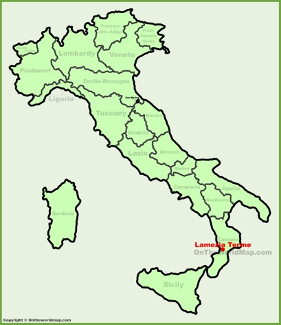 Lamezia Terme Location Map