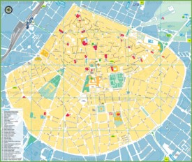Lecce sightseeing map