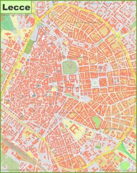 Lecce tourist map