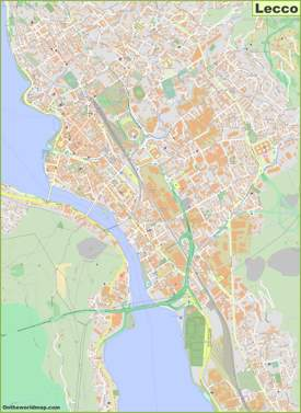 Detailed Map of Lecco