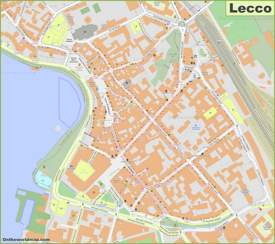 Lecco Old Town Map