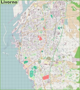 Large detailed map of Livorno