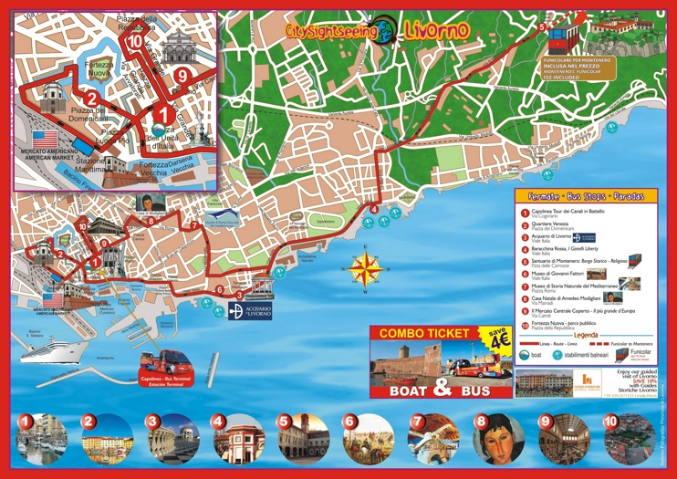 Livorno sightseeing map