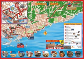 Livorno sightseeing map