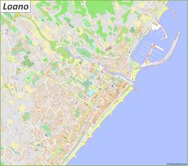 Detailed Map of Loano