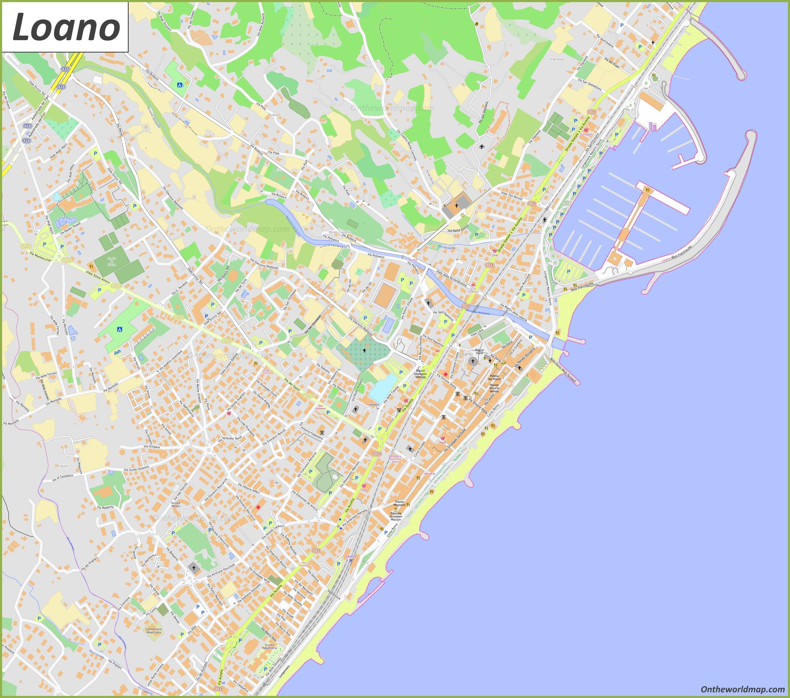 Cartina Barcellona Dettagliata.Mappa Dettagliata Di Loano