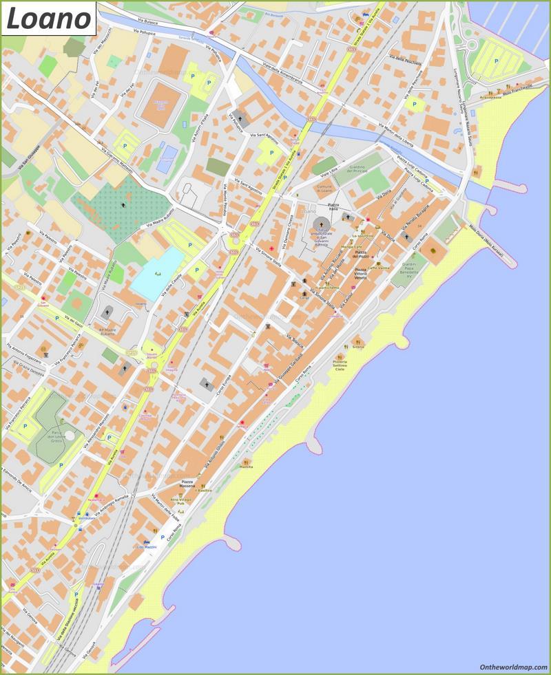 Map of Loano
