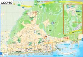 Loano Tourist Map