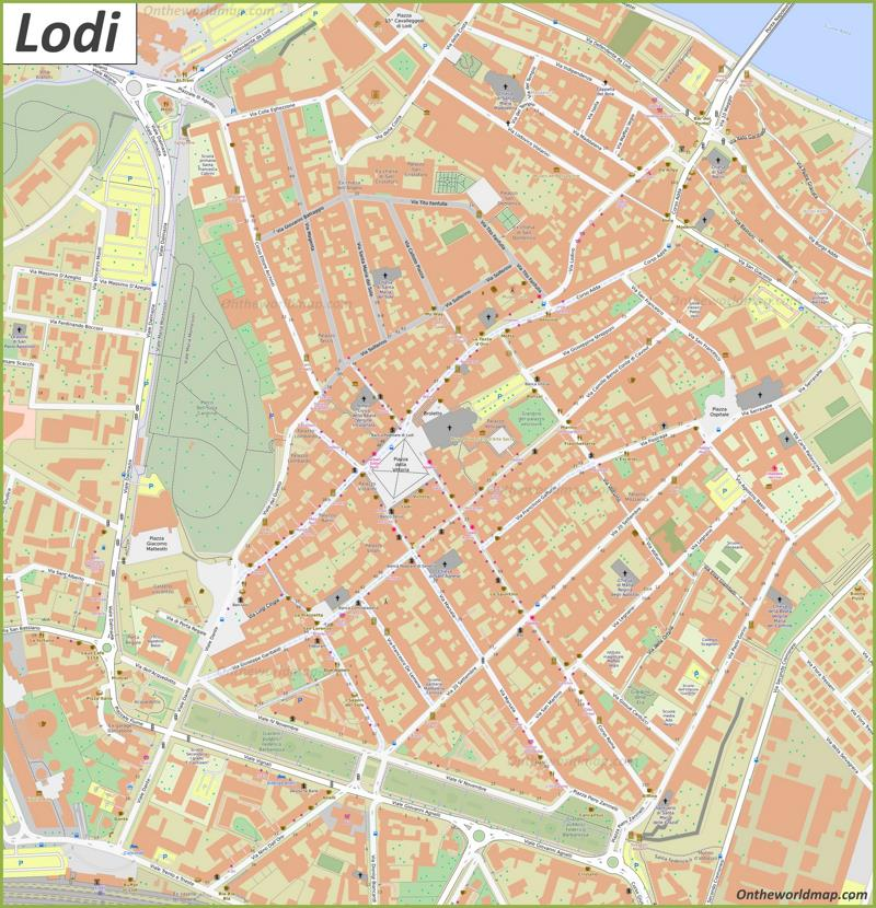 Lodi Old Town Map