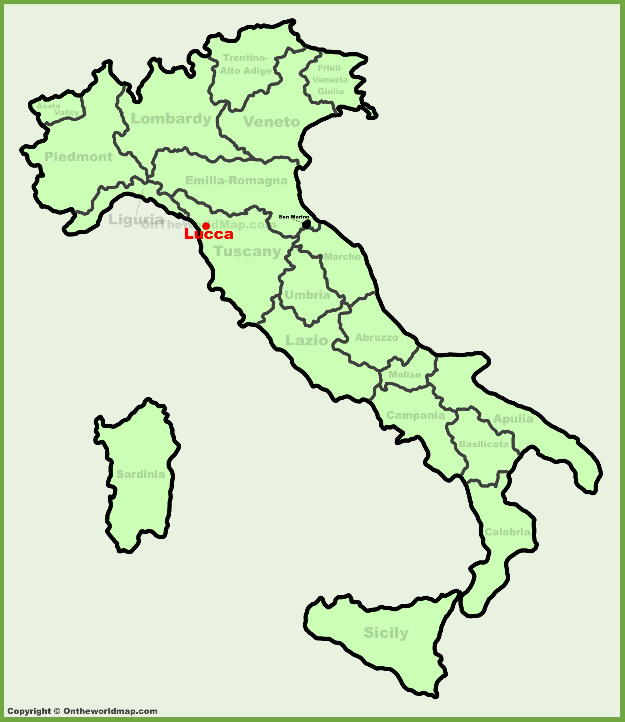 Lucca Italy Map Lucca location on the Italy map
