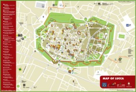Lucca tourist attractions map