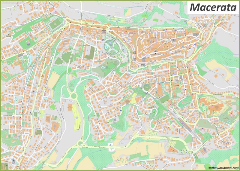 Map of Macerata