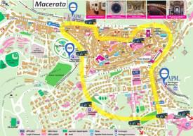 Macerata Tourist Map