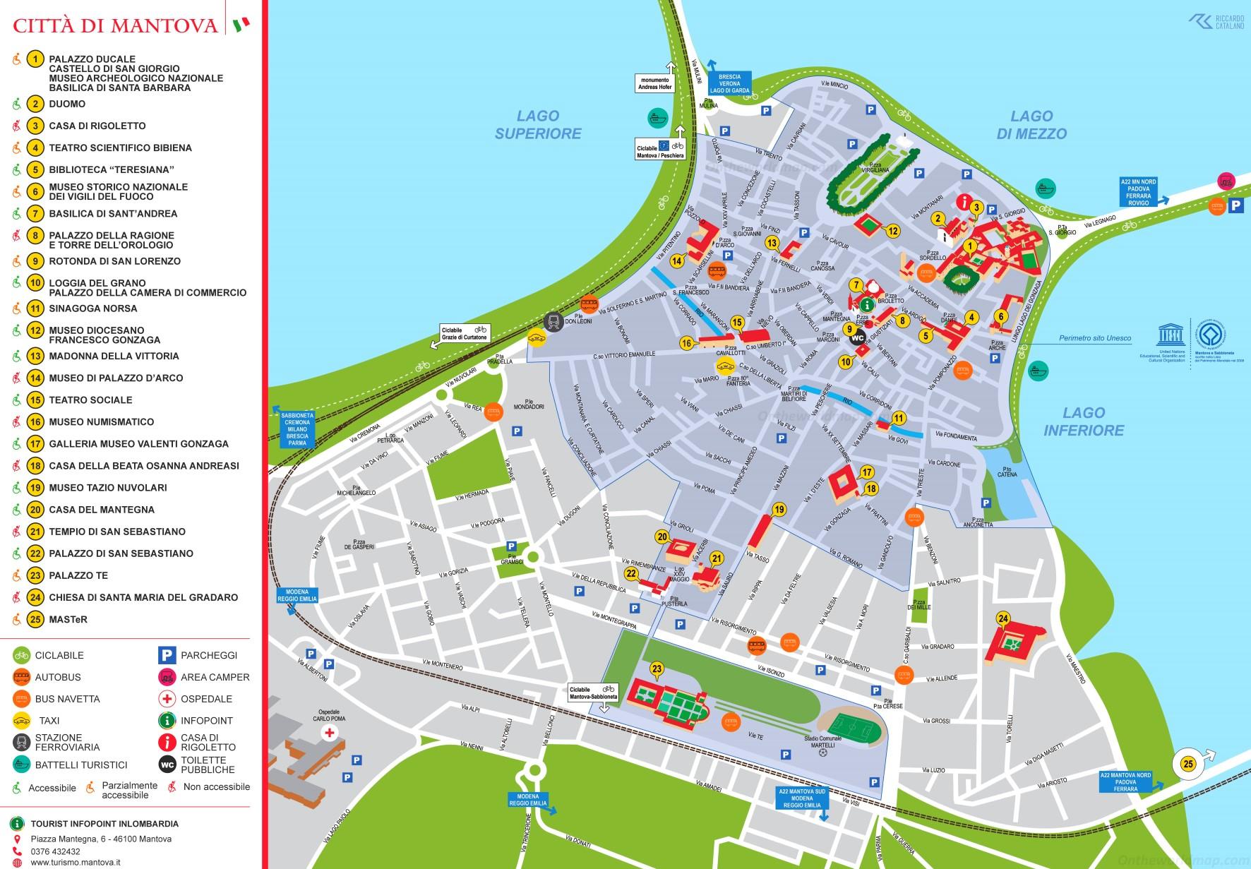Cartina Mappa Turistica Dubai.Mantova Mappa Turistica
