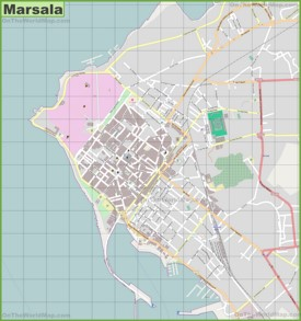 Large detailed map of Marsala