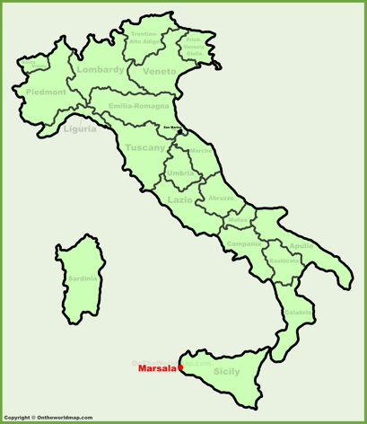 Marsala Location Map