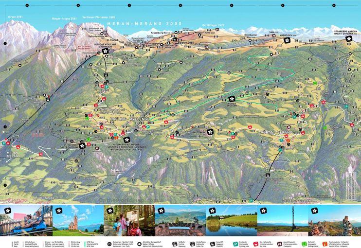 Merano Hiking Map
