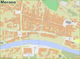 Merano Old Town Map