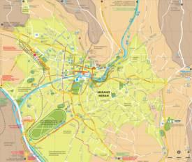 Merano Tourist Attractions Map