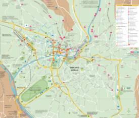 Merano Tourist Map