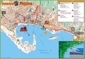 Messina sightseeing map