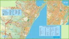 Messina tourist map
