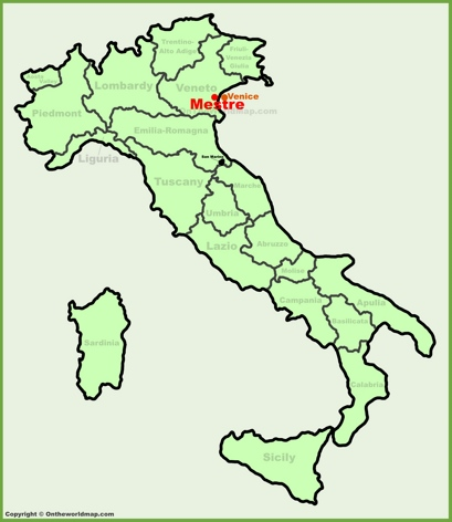 Mestre Maps Italy Maps of Mestre
