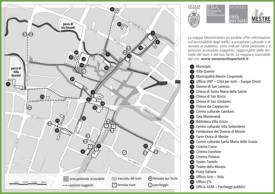Mestre tourist map