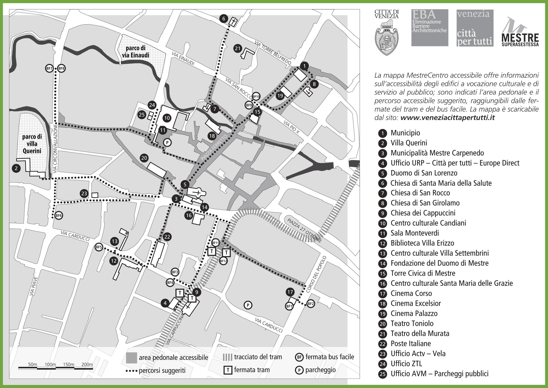 Mestre tourist map
