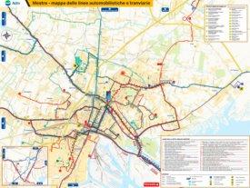 Mestre transport map