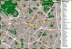 Milan sightseeing map