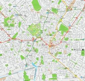 Milan street map