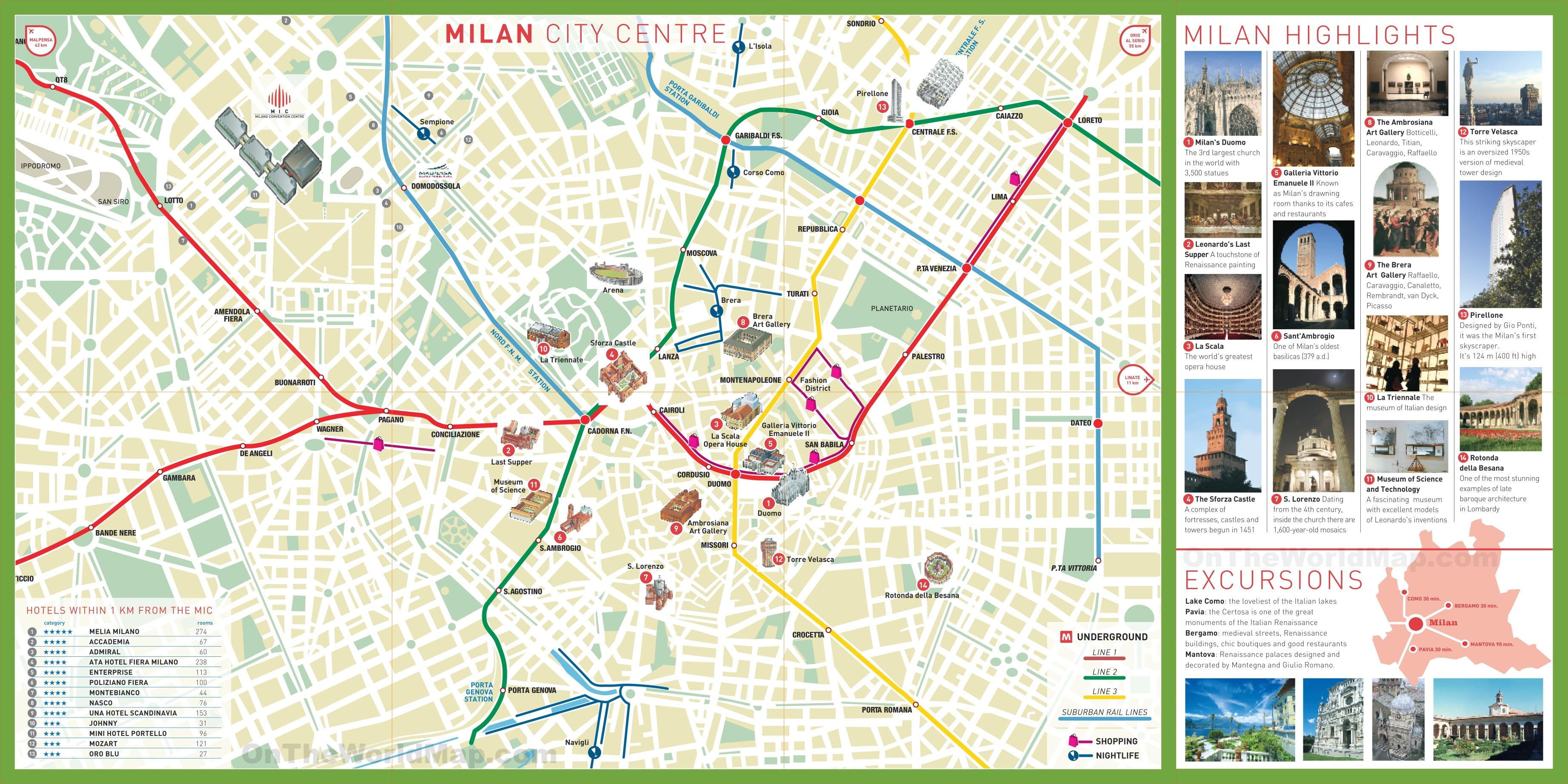 Milan tourist attractions map – Tourist Attractions Map In Jamaica