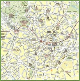 Milan travel map