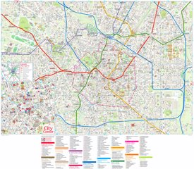 Tourist map of Milan with sightseeings