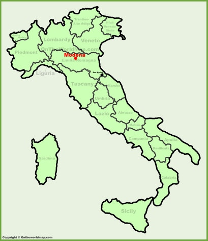 Modena Location Map