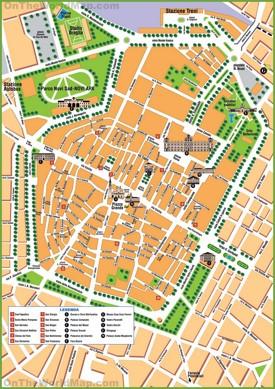 Modena tourist map