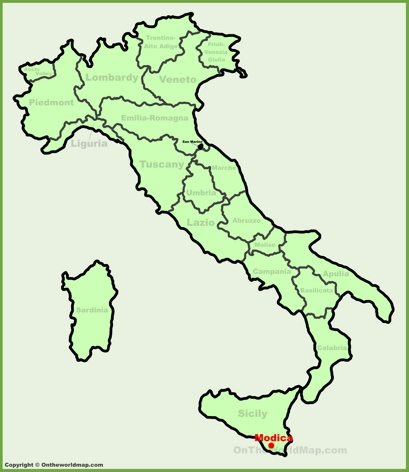 Modica Location Map